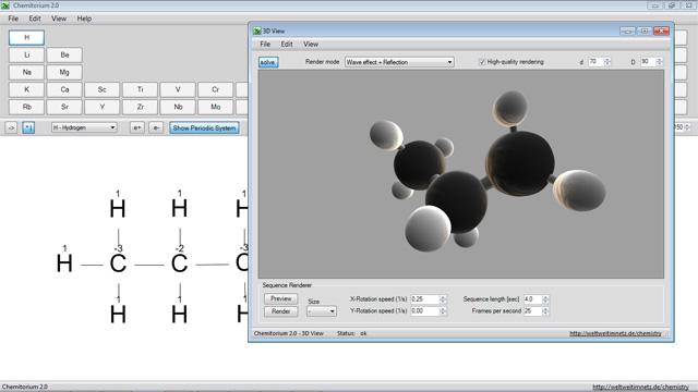 Chemitorium : Editor Rumus Kimia untuk Membuat Tampilan Molekul 3D