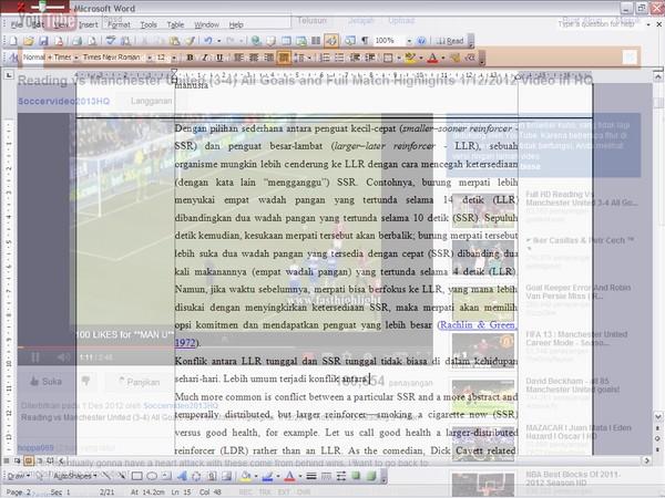 Menonton Video dan TV Online Sembari Bekerja dengan Double Vision