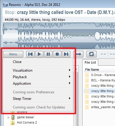 ResonicPlayer : Music Player Ringan dengan Fitur Lengkap