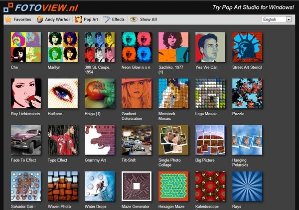 """Ubah Foto Menjadi Gaya """"Pop Art"""" dengan Pop Art Studio Online"""