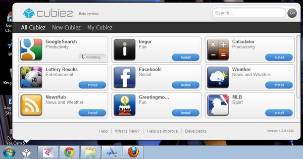 Cubiez : Akses Berbagai Macam App Store Melalui Taskbar