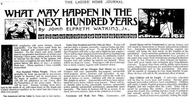 Inilah Prediksi Ladies Home Journal Ratusan Tahun Lalu yang Menjadi Kenyataan
