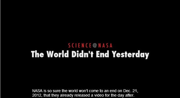 NASA Menayangkan Video Kalender Maya untuk Membantah Isu Kiamat 2012