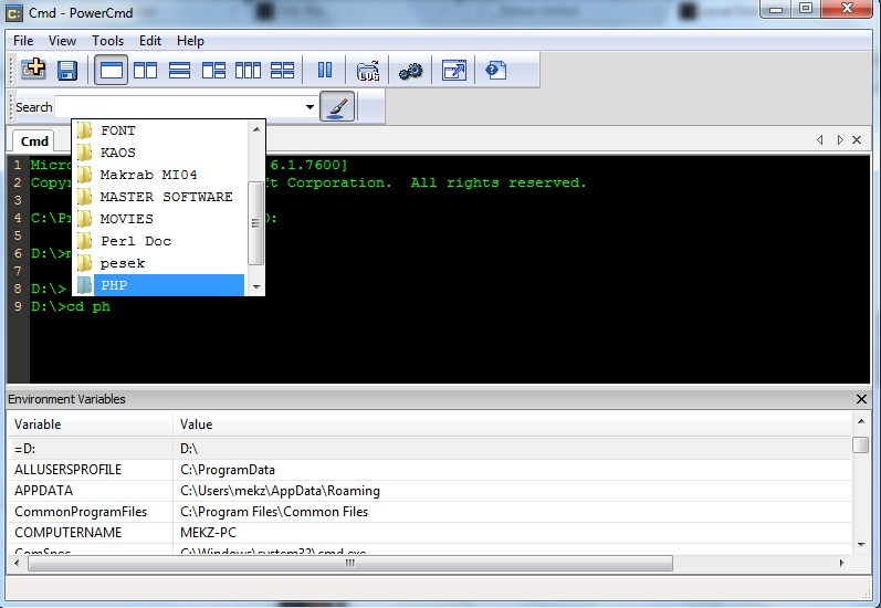 PowerCmd : Software Alternatif untuk Command Prompt di Windows