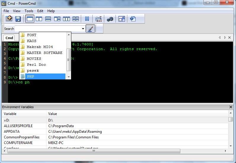 PowerCmd : Software Alternatif untuk Command Prompt di Windows