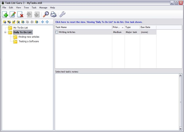 Tasklist Guru: Desktop To Do List dengan Fasilitas Diagram Pohon