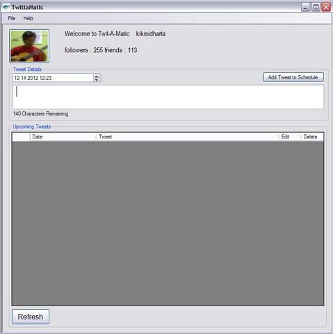 Twitamatic: Software untuk Meluncurkan Twit secara Terjadwal