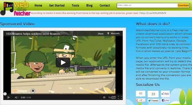 WebVideoFetcher : Cara Mudah Download Sekaligus Convert Video Secara Online