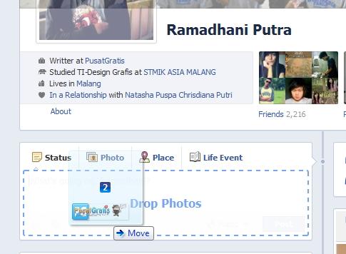 Semakin Mudah Mengupload Foto ke Facebook dengan Fitur Drag and Drop