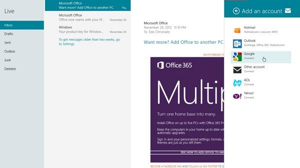 Cara Menambahkan Email Lain di Windows 8 Mail