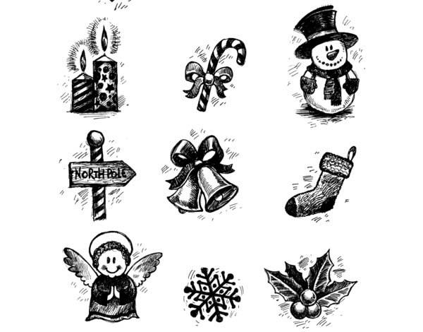 Set Icon dan Font Untuk Membuat Gambar Ucapan Natal