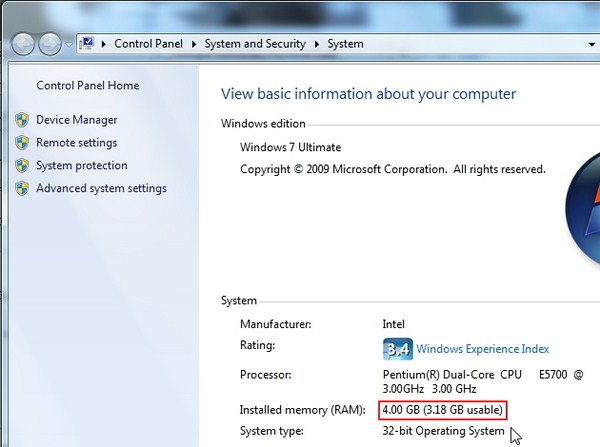 Kenapa Windows Tidak Mampu Mendeteksi Semua Jumlah RAM?