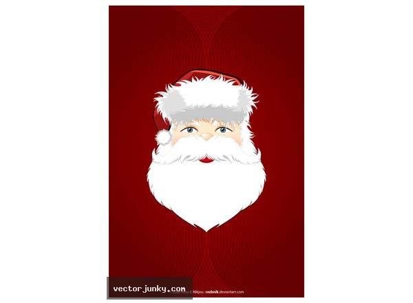 Kumpulan Gambar Santa Clause untuk Desain Kartu Natal