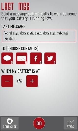 Last Message : Secara Otomatis Mengirimkan Pesan Ketika Ponsel Akan Mati [Android]