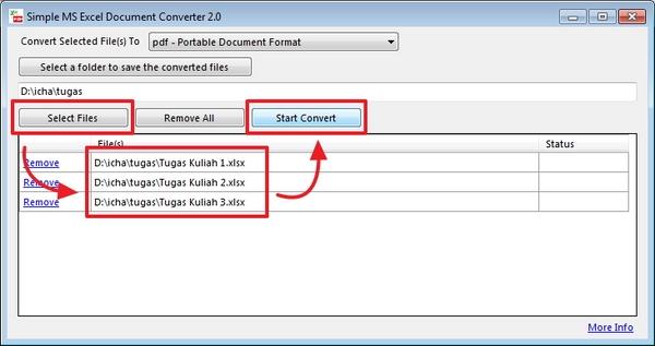 Simple Microsoft Excel Documents Converter: Cara Mudah Mengconvert File Excel ke Berbagai Format