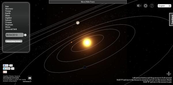 Belajar Tata Surya Semakin Asyik dengan 3D Solar System Web
