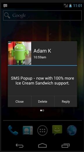 SMS Popup : Lihat Isi SMS Tanpa Perlu Membukanya Terlebih Dahulu