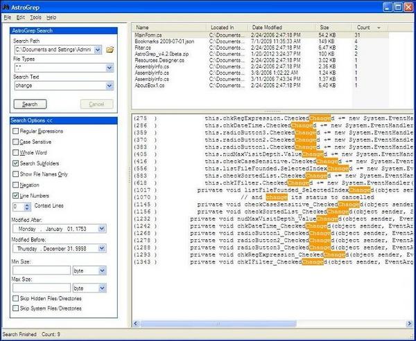 AstroGrep : Aplikasi Sederhana Sebagai Alternatif dari Kotak Search pada Windows
