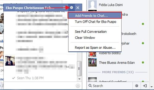 Cara Chatting dengan Banyak Teman Sekaligus di Facebook
