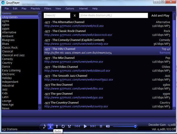 QuuxPlayer: Aplikasi Pemutar Audio Sederhana dengan Fitur Radio Internet