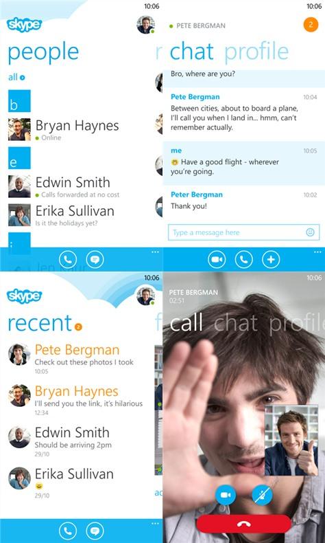 Skype versi 2.1 untuk Windows Phone 8 telah Dirilis