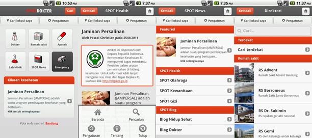 SpotDokter : Aplikasi Kesehatan Gratis untuk Android dan BlackBerry