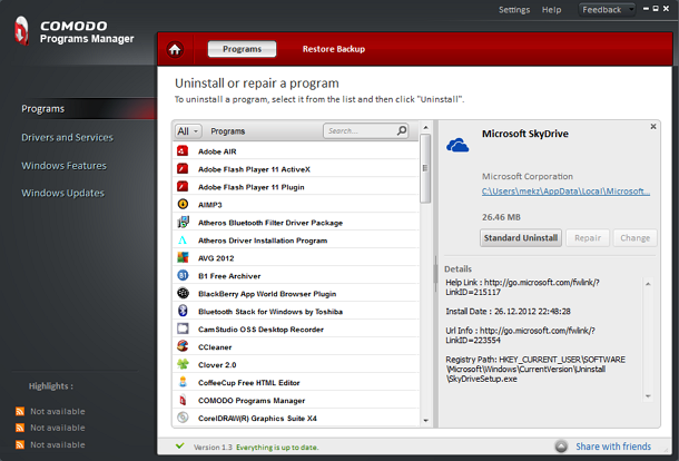 Uninstall Program Secara Tuntas dengan Comodo Programs Manager