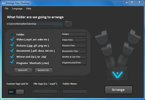 Bersihkan Desktop dari Banyaknya File Bertebaran dengan Arrange Your Desktop
