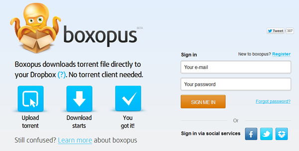 Download dan Upload Langsung File Torrent ke Dropbox Menggunakan Boxopus