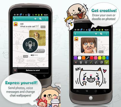 Cubie Messenger: Aplikasi Berkirim Pesan Gratis Lebih Seru dengan Fitur Drawing