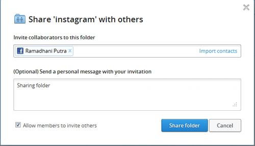 Cara Mudah Berbagi Folder Dropbox ke Semua Teman di Facebook