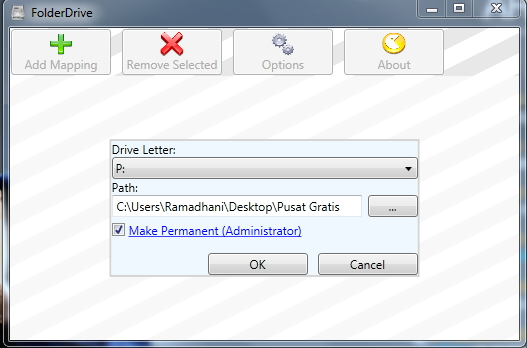 Merubah Folder Menjadi Sebuah Drive Baru dengan FolderDrive
