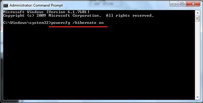 Cara Mengembalikan Mode Hibernate yang Menghilang di Windows 7