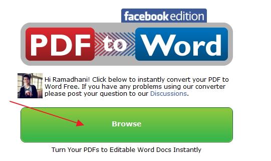 Cara Mudah Merubah File PDF Menjadi Word dengan Layanan Facebook