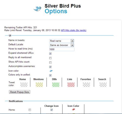 Silver Bird Plus: Akses Twitter Secara Penuh Langsung dari Bar Browser