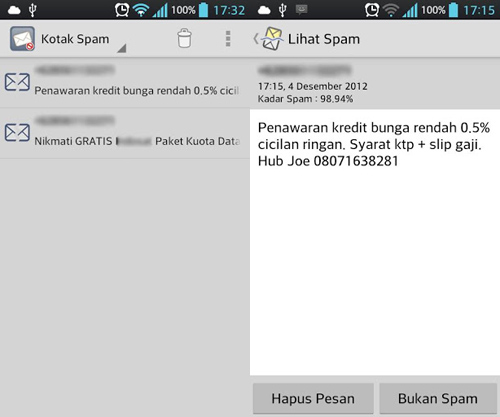 Sterile Inbox SMS Spam Filter: Aplikasi Pencegah SMS Spam Masuk di Android