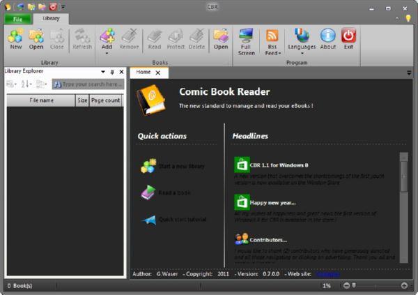 CBR: Software Pembaca Komik yang Terinspirasi Ribbon dari Office 2010