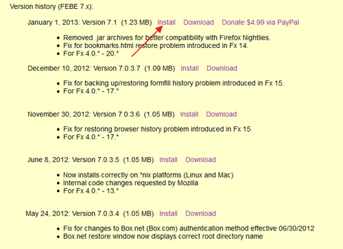Backup dan Restore Add-ons, History, Bookmark, Plugin Firefox dengan FEBE