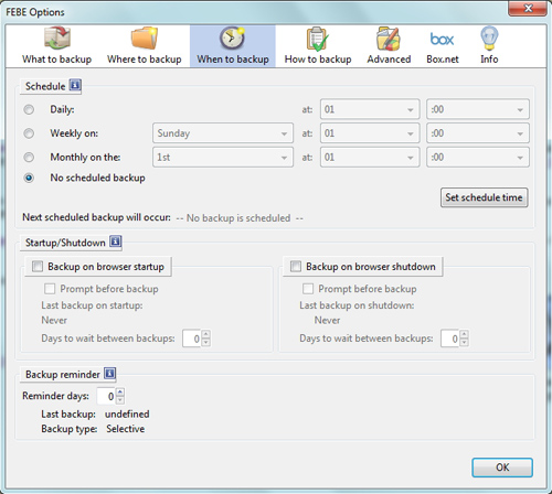 Backup dan Restore Add-ons, History, Bookmark, Plugin Firefox dengan FEBE