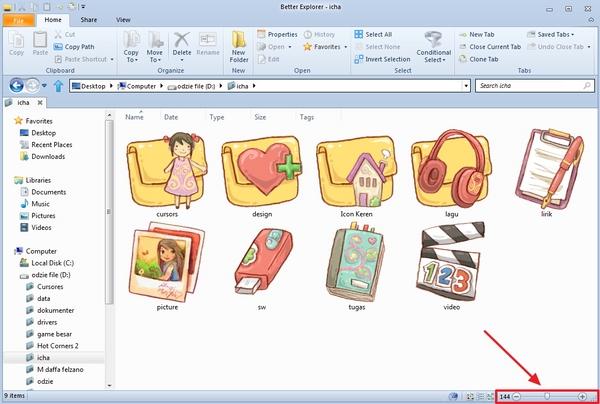 Ubah Tampilan Windows Explorer Layaknya File Explorer Menggunakan Better Explorer