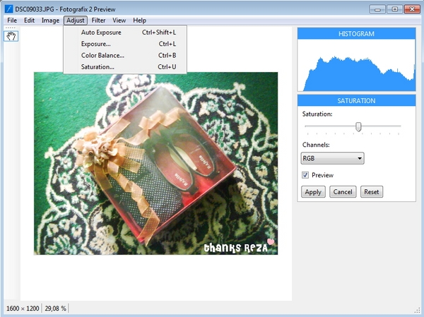 Fotografix : Photo Editor Portable, Ringan dan Gratis Alternatif Photoshop