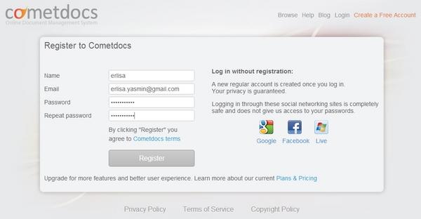 CometDocs : Storage Online untuk Transfer, Convert dan Host File