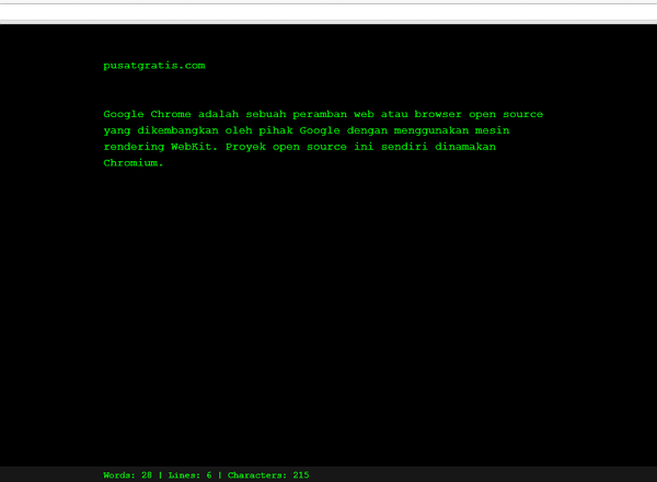 Ubah Browser Google Chrome Menjadi Teks Editor dengan Write Space
