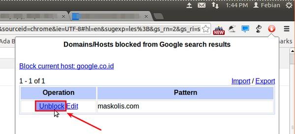 Setelah kamu blokir, maka website tersebut tidak akan muncul lagi di pencarian Google.