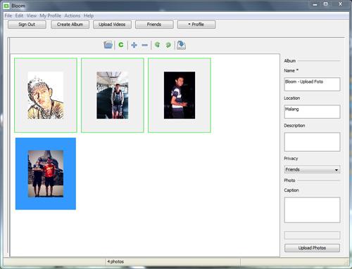 Upload Foto dan Video ke Facebook Langsung dari Dekstop Komputer dengan Bloom
