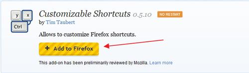 Merubah Tombol Shortucts pada Firefox dengan Customizable Shortcuts