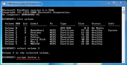 Cara Menyembunyikan Drive di Windows Melalui Diskpart