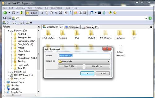 Membuat Banyak Tab di Windows Explorer dengan Explorer++