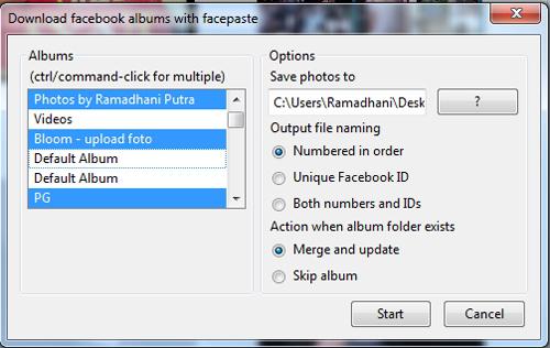 Mudah Mendownload Semua Album Foto di Facebook dengan Facepaste