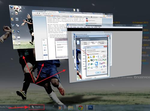 Cara Mudah Membuat Shortcut Flip3D di Windows